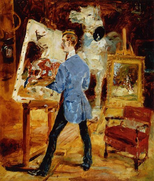 Princeteau in His Studio - Henri de Toulouse-Lautrec