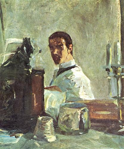 Self-portrait in front of a mirror - Henri de Toulouse-Lautrec