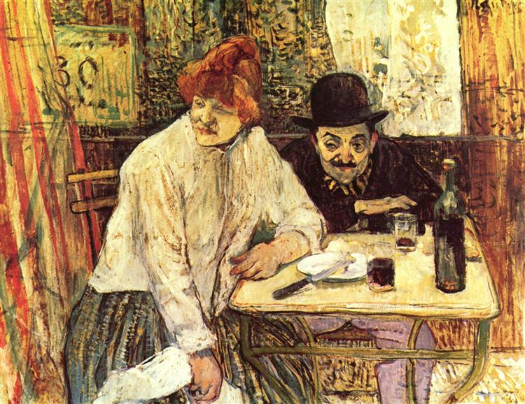 The Last Crumbs (In The Restaurant La Mie), 1891 - Анри де Тулуз-Лотрек