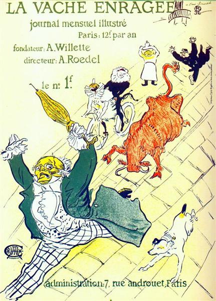 The mad cow, 1896 - Henri de Toulouse-Lautrec