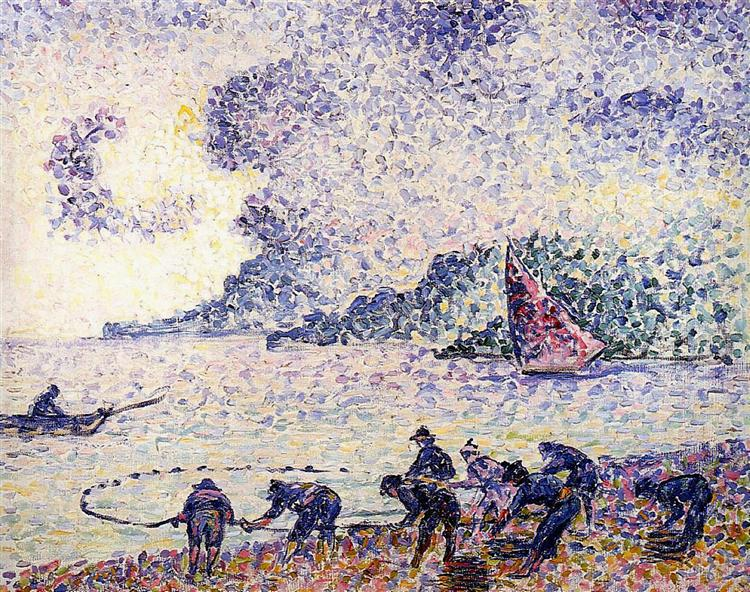 Fisherman, 1895 - Henri-Edmond Cross