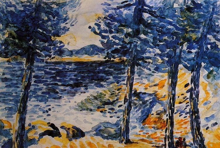 Pines by the Sea, 1909 - Henri-Edmond Cross