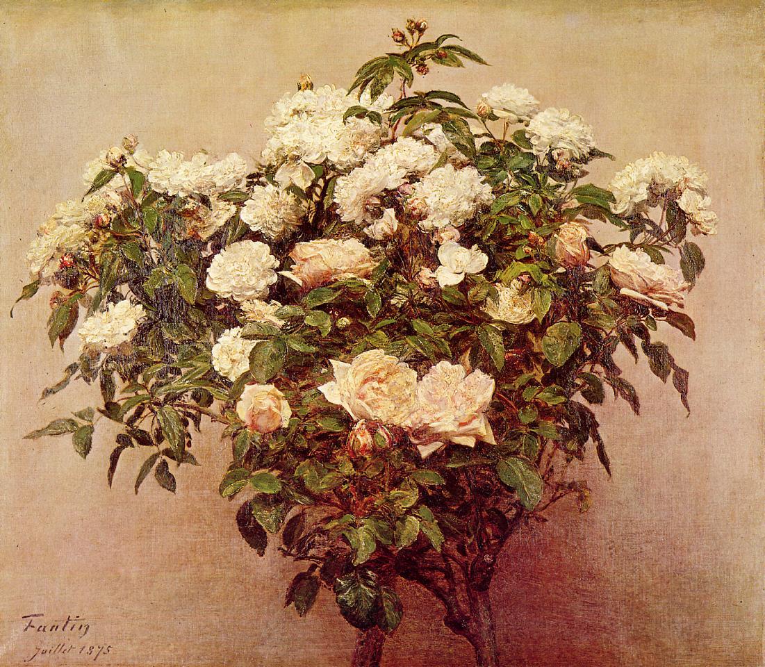 rose trees white roses 1875 henri fantin latour. Black Bedroom Furniture Sets. Home Design Ideas