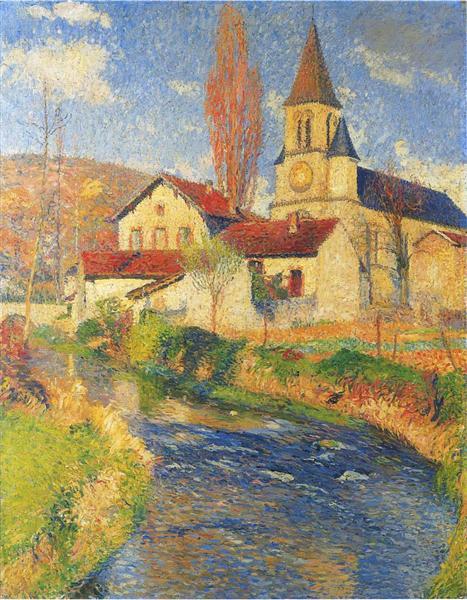 Church by the River, 1921 - Henri Martin
