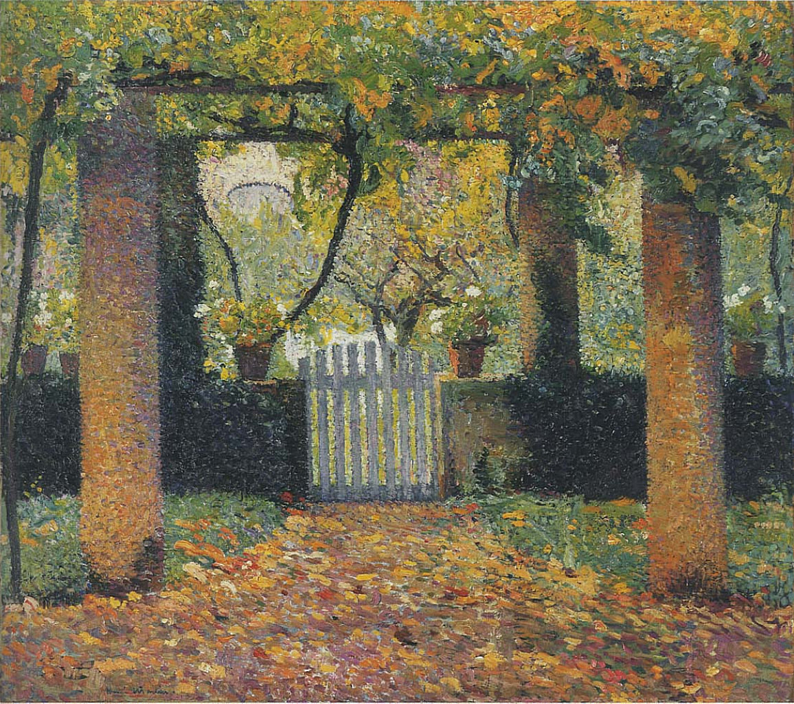 Garden door in Bower 1920 Henri Martin WikiArtorg