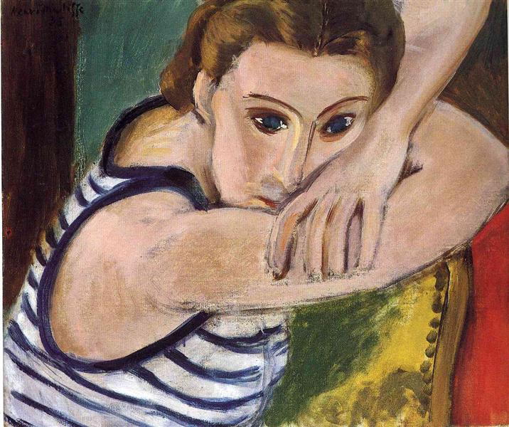 Blue Eyes, 1934 - Henri Matisse