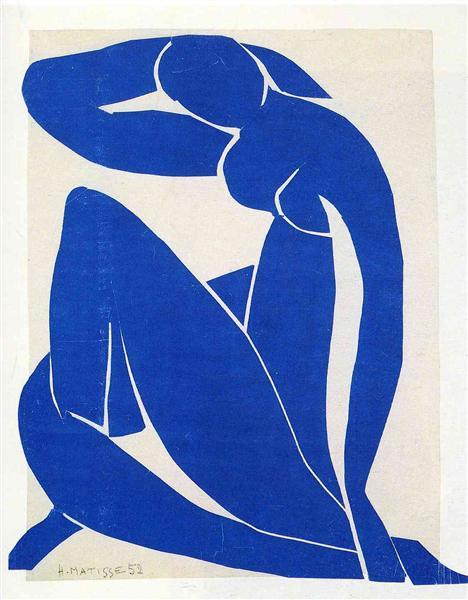 Blue Nude II, 1952 - Henri Matisse