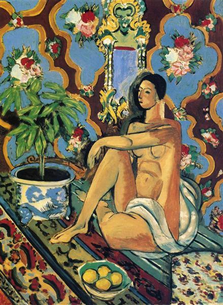 Decorative Figure on an Ornamental Background, 1925 - Henri Matisse