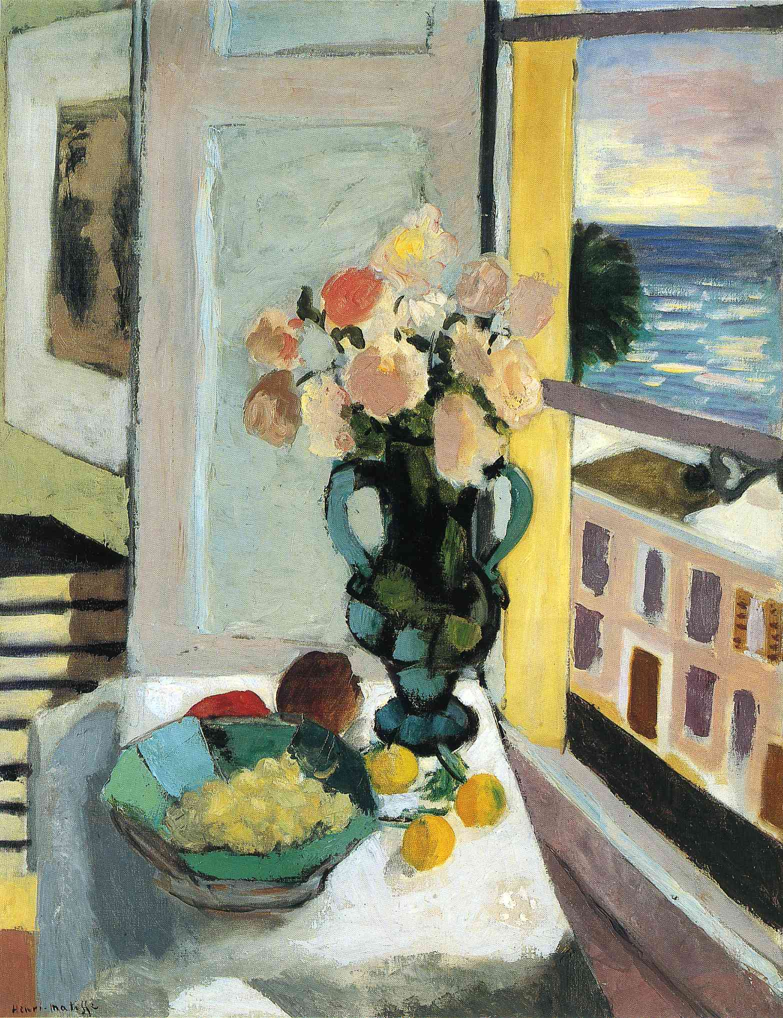 Flowers in front of a window 1922 henri matisse for Par la fenetre ouverte comptine