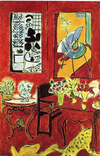 Large Red Interior, 1948 - Henri Matisse