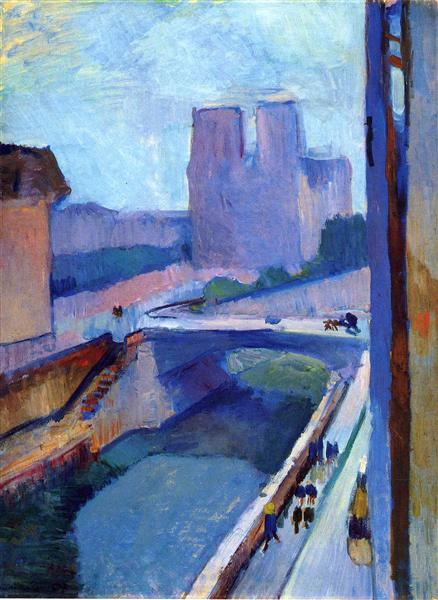 A Glimpse of Notre-Dame in the Late Afternoon, 1902 - Henri Matisse