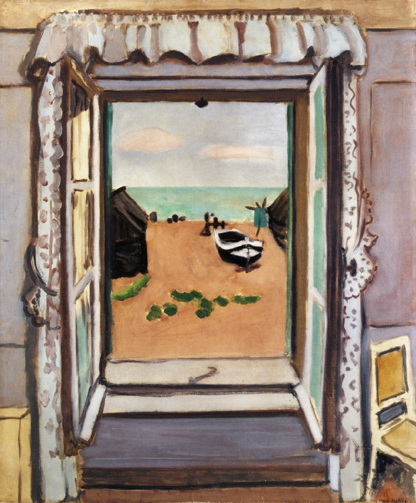Open window etretat matisse henri for Matisse fenetre