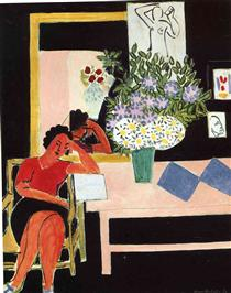 Reader on a Black Background - Henri Matisse