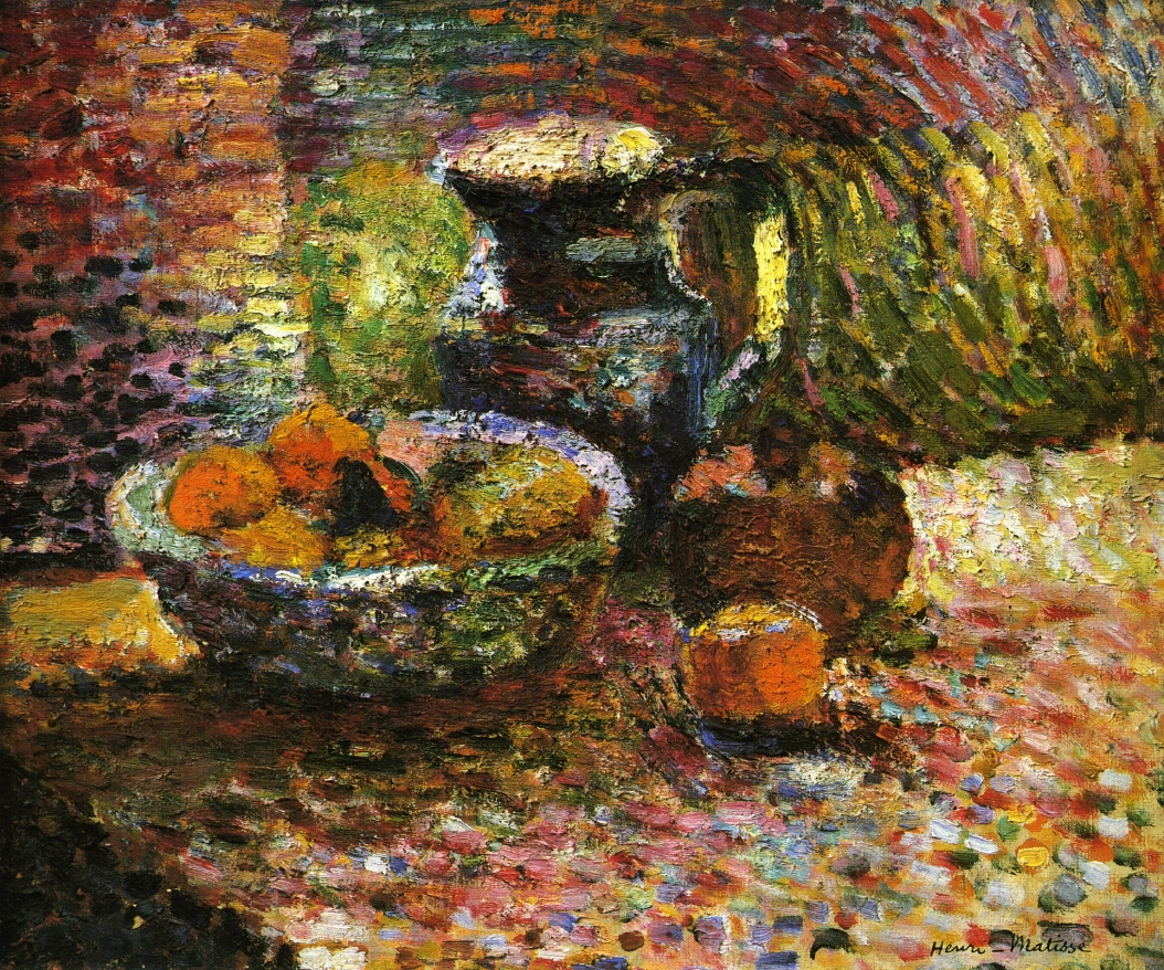 Faux painting furniture - Still Life With Pitcher And Fruit C 1898 Henri Matisse