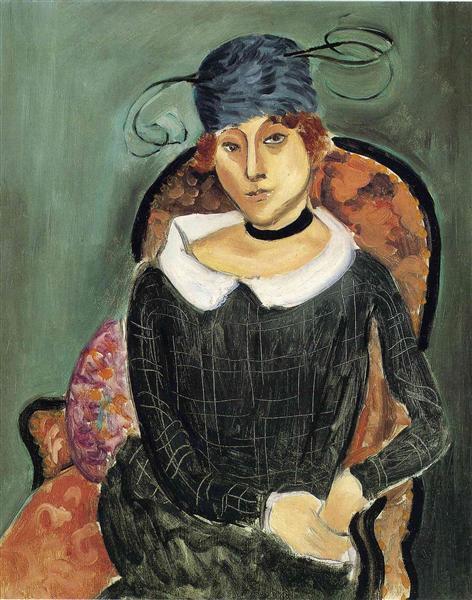 The Ostrich Feather Hat, 1918 - Henri Matisse