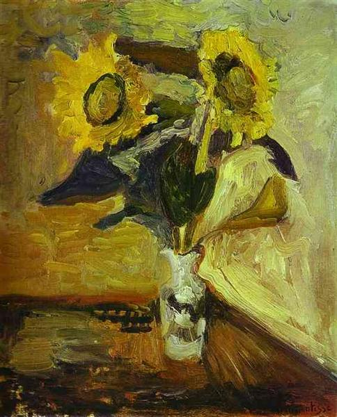 Vase of Sunflowers, 1898 - Henri Matisse