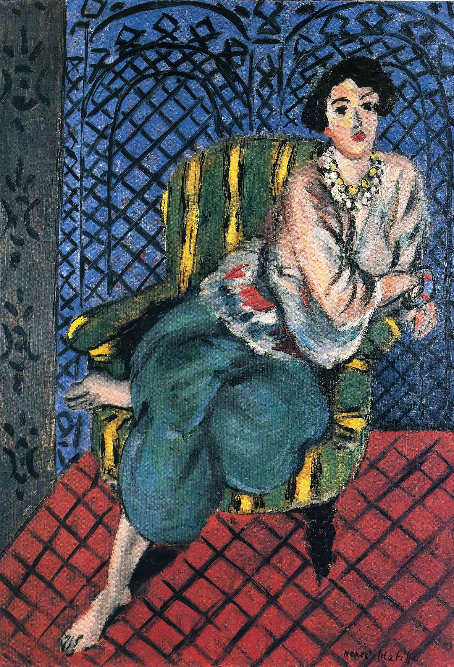 Woman Sitting In A Chair 1926 Henri Matisse Wikiart Org