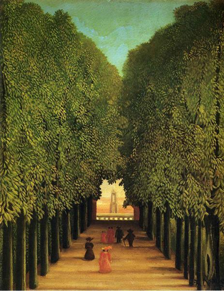 Alleyway in the Park of Saint Cloud, 1908 - Henri Rousseau