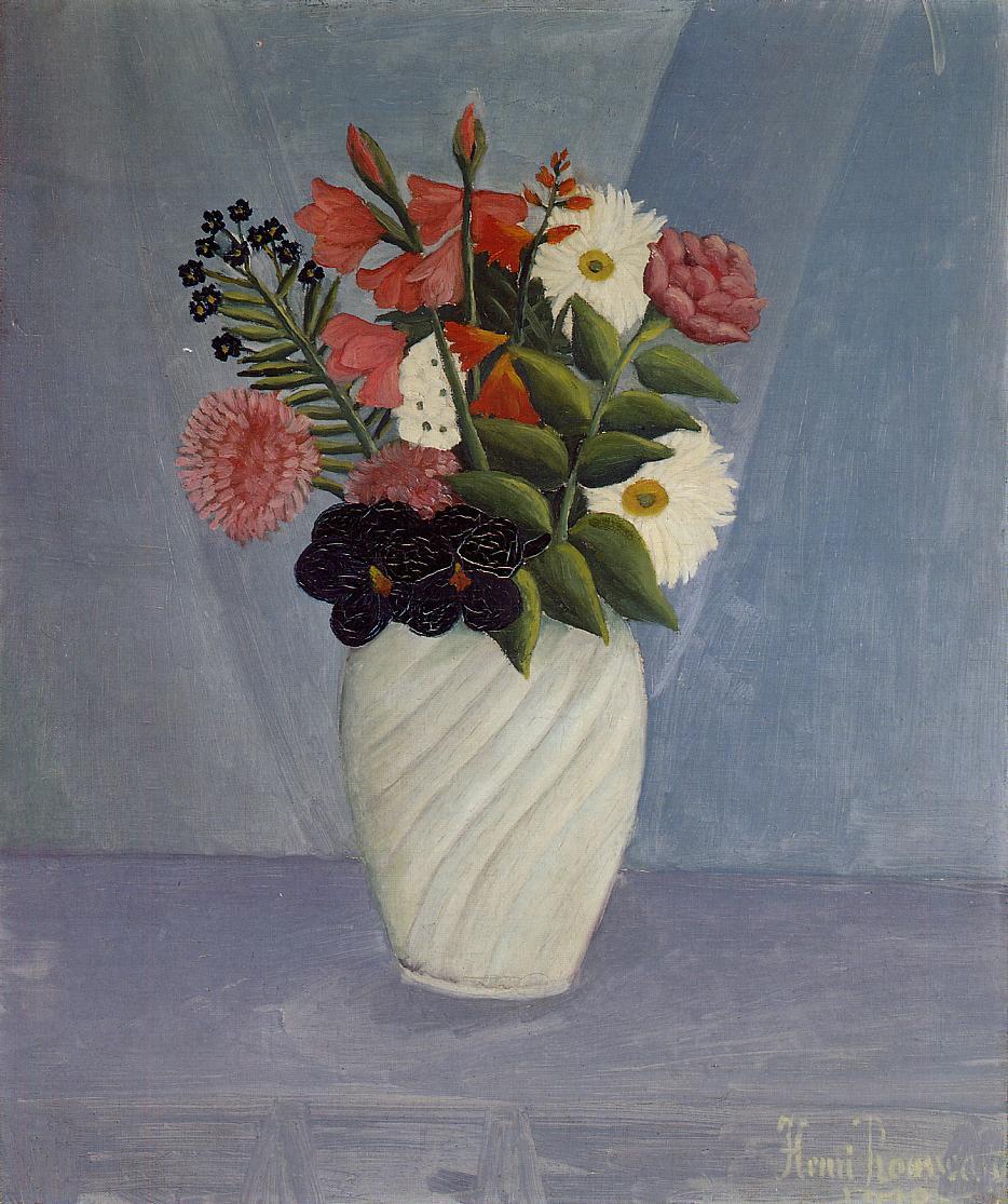 Bouquet Of Flowers 1910 Henri Rousseau Wikiart Org