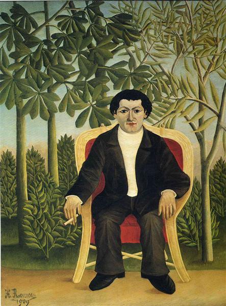 Portrait of Joseph Brummer, 1909 - Henri Rousseau