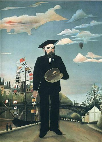 Self Portrait from L'ile Saint Louis - Henri Rousseau