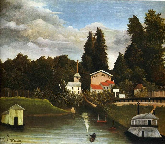 the Mill at Alfor, 1904 - 1905 - Henri Rousseau