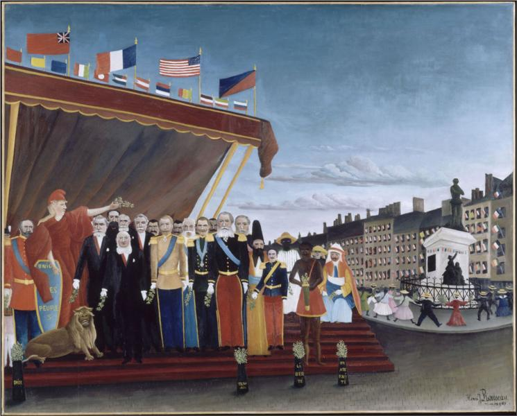 The Representatives of Foreign Powers Coming to Salute the Republic as a Sign of Peace, 1907 - Henri Rousseau