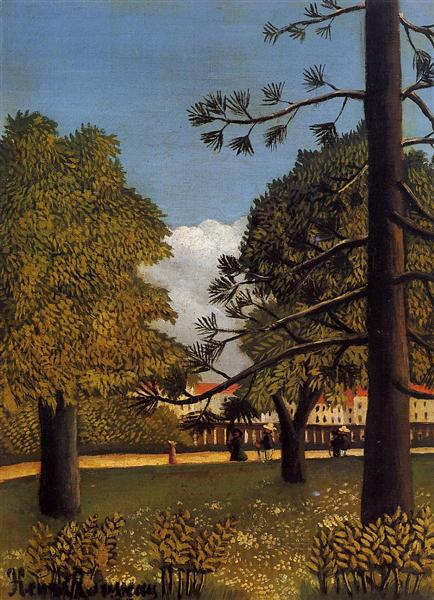 View of Parc de Montsouris, 1894 - 1895 - Henri Rousseau