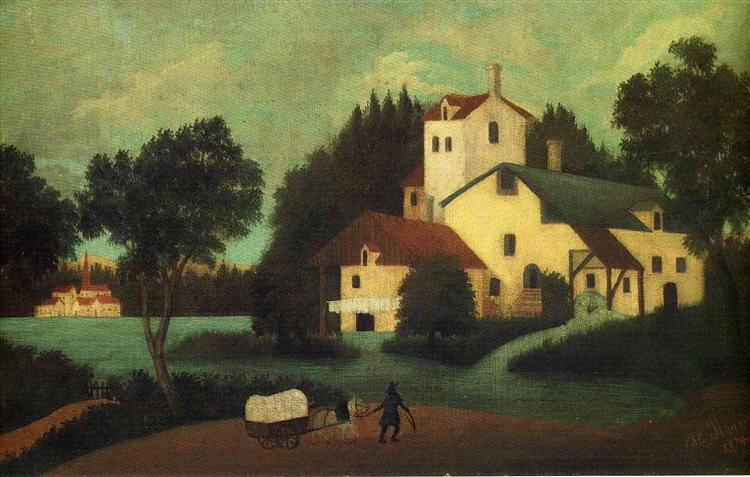 Wagon in Front of the Mill, 1879 - Henri Rousseau