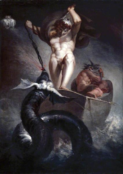 Thor Battering la serpiente de Midgard - Henry Fuseli