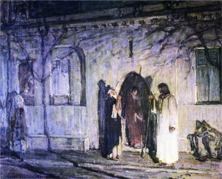 Christ with the Canaanite Woman and Her Daughter, 1909 - Henry Ossawa Tanner