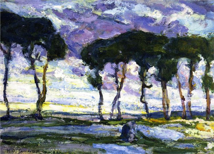 Landscape with Irises, 1914 - Henry Ossawa Tanner