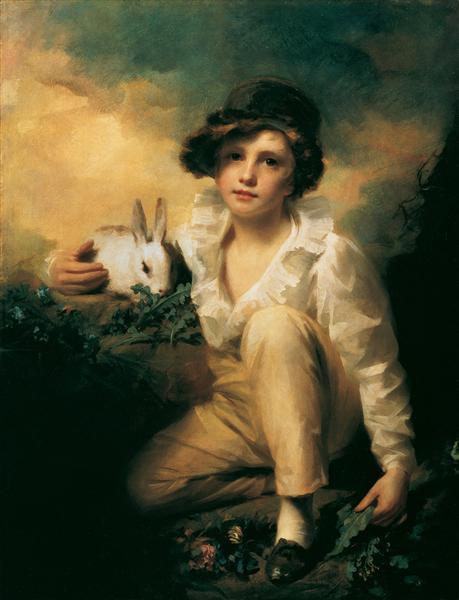 Boy and Rabbit - Henry Raeburn