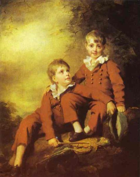 Portrait of the Binning Children, c.1811 - Генрі Реберн