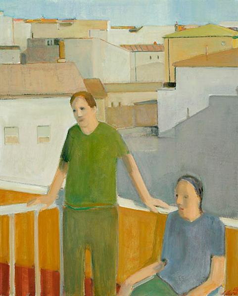 Couple on the Balcony - Henry Villierme