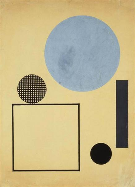 Circle and Square in Space, 1923 - Henryk Berlewi