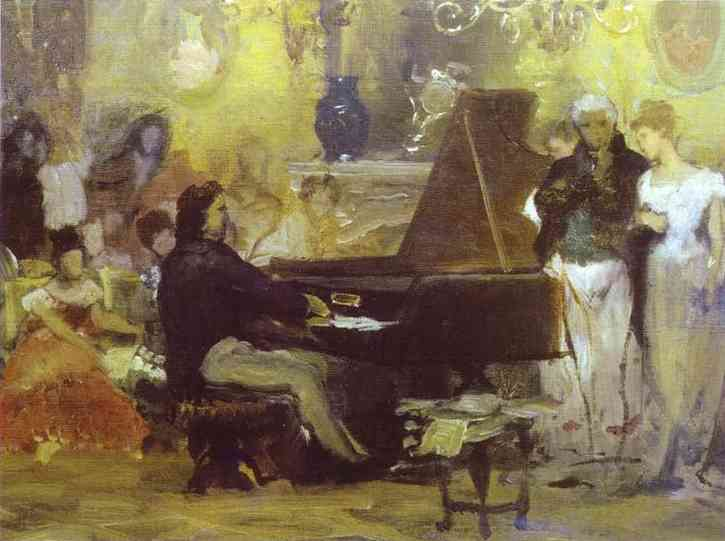 Chopin Performing in the Guest-Hall of Anton Radziville in Berlin in 1829, 1887 - Henryk Siemiradzki