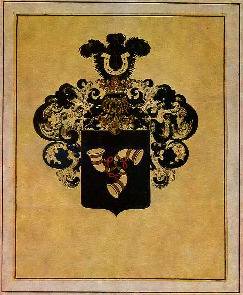 Family Coat of Arms of Narbut family, 1914 - Георгий Нарбут