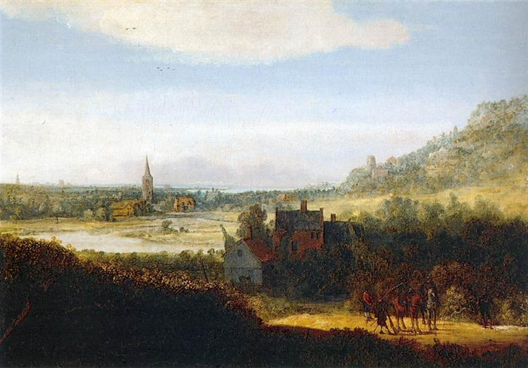 Landscape with Armed Men - Геркулес Сегерс