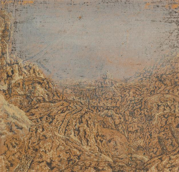 Mountain Gorge Bordered by a Road, c.1615 - 1630 - Hercules Seghers