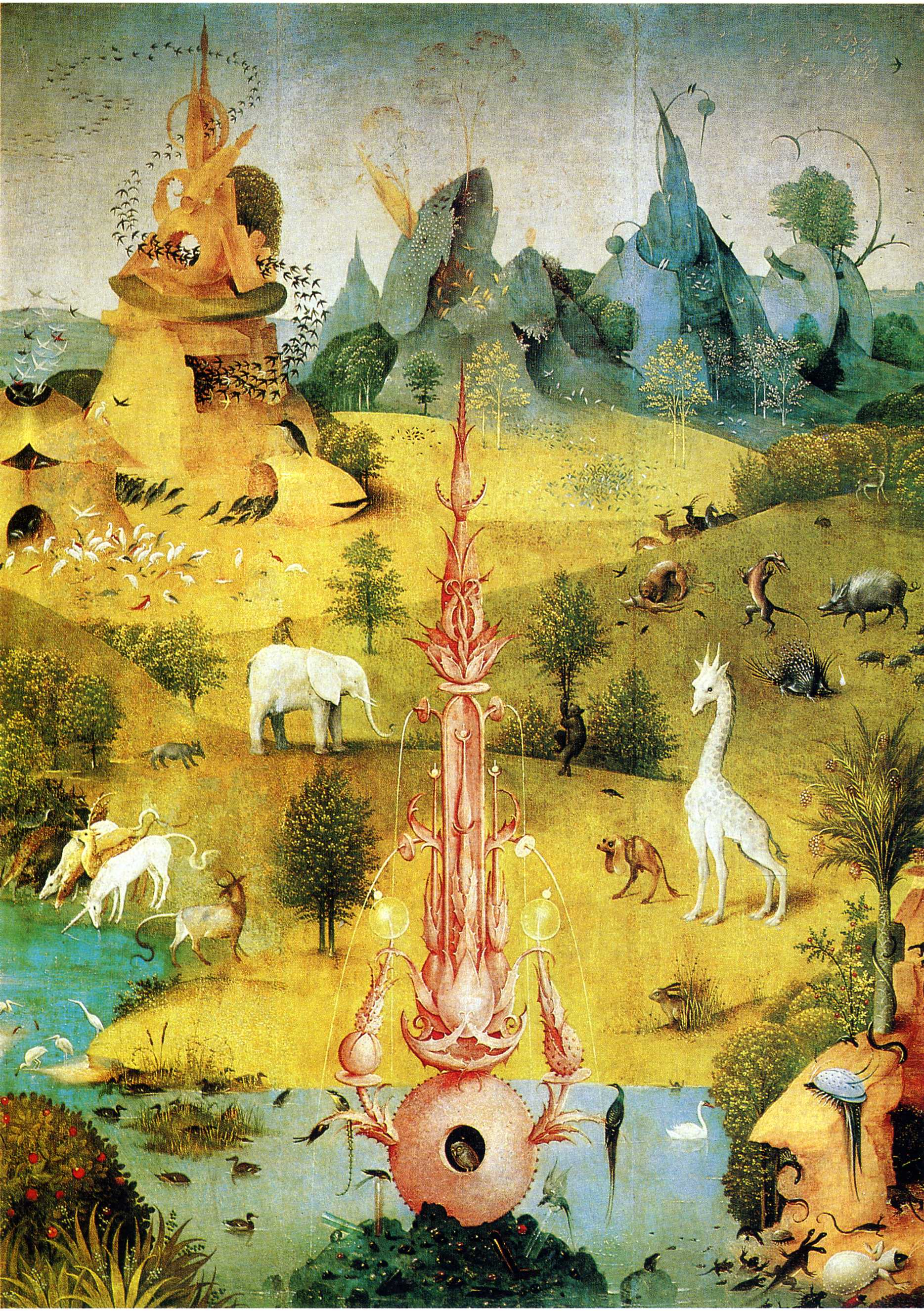 The Garden of Earthly Delights (detail) - Hieronymus Bosch ...