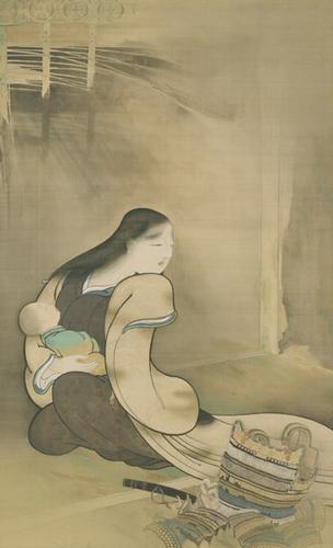 寡婦と孤児, 1895 - Hishida Shunso