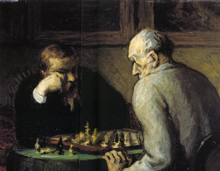 Chess-Players, c.1863 - c.1867 - Honore Daumier