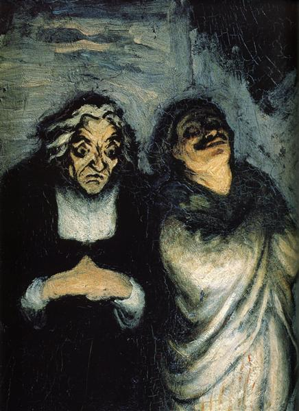 Comedy scene (scene from Molière) - Honore Daumier