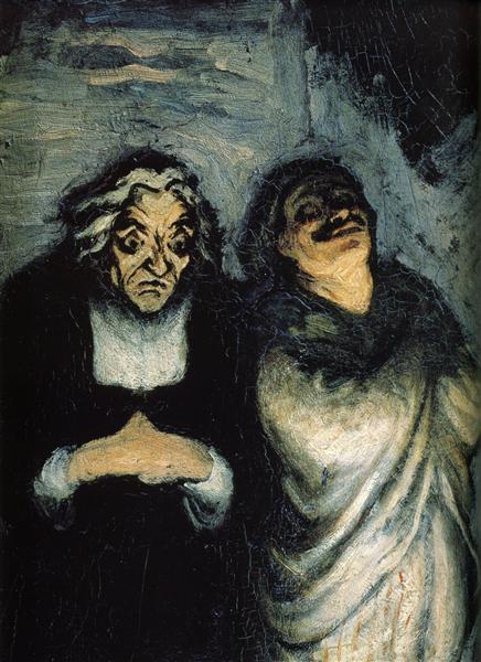 Comedy scene (scene from Molière) - Honore Daumier
