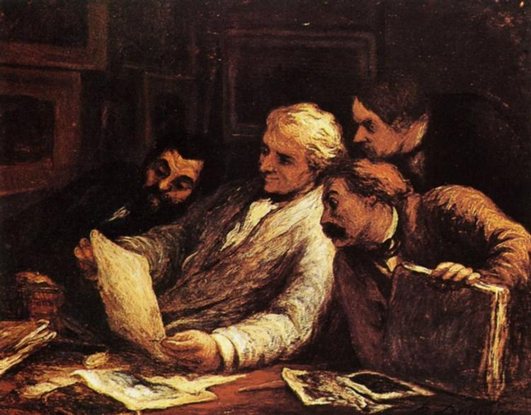 Four amateur of prints - Honore Daumier