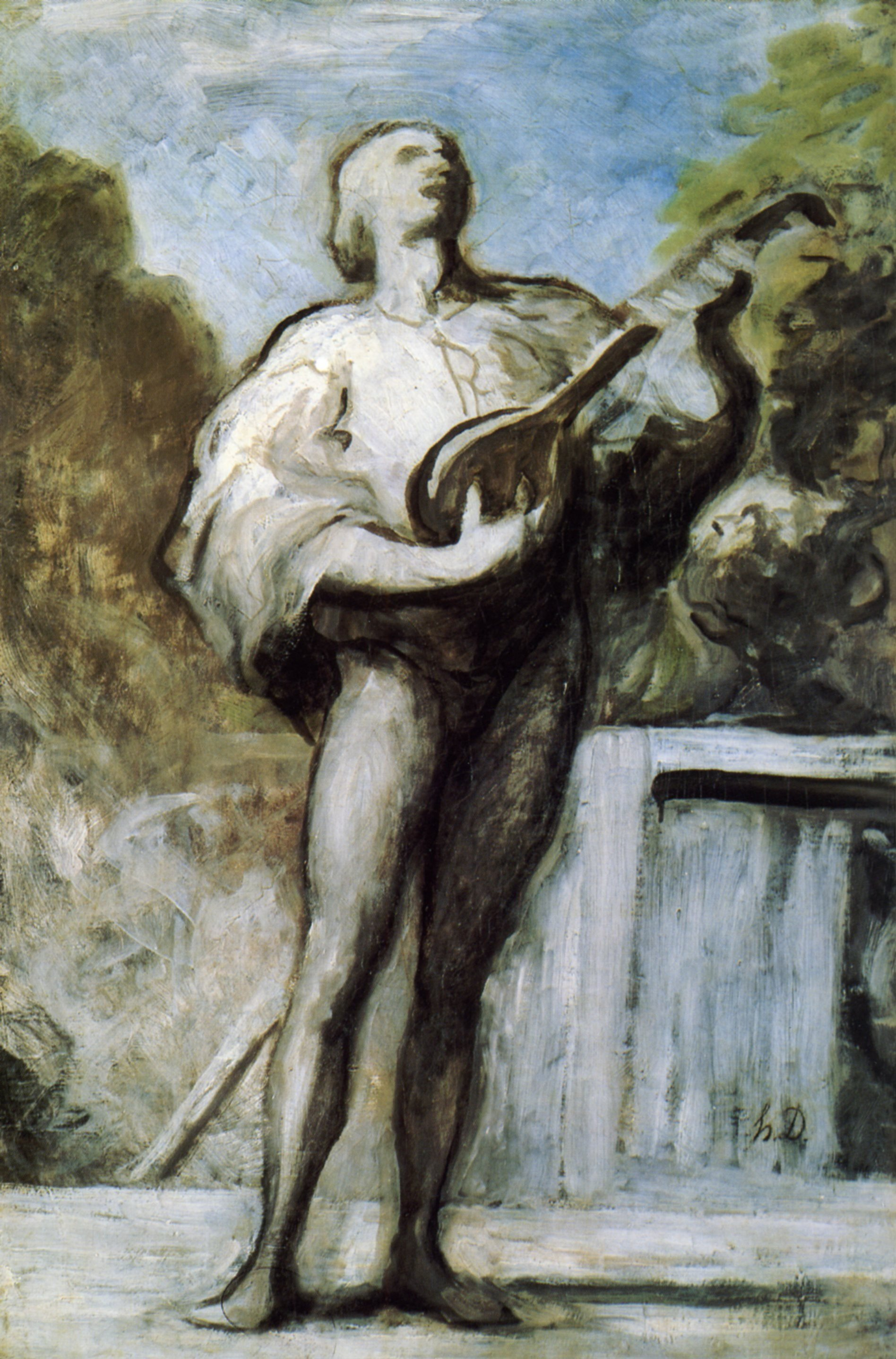 The Troubadour - Honore Daumier - WikiArt.org