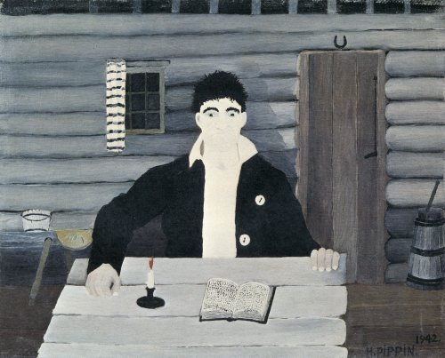 John Brown Reading His Bible, 1942 - Horace Pippin