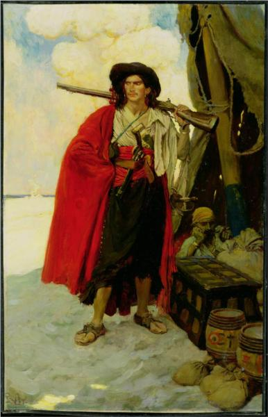 The Buccaneer Was a Picturesque Fellow, 1905 - Howard Pyle