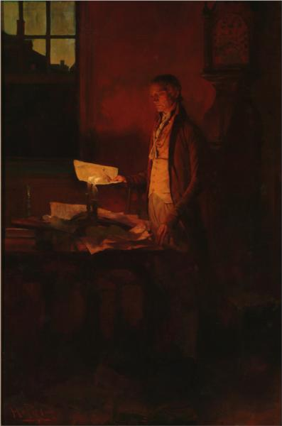 Thomas Jefferson Writing the Declaration of Independence, 1898 - Howard Pyle